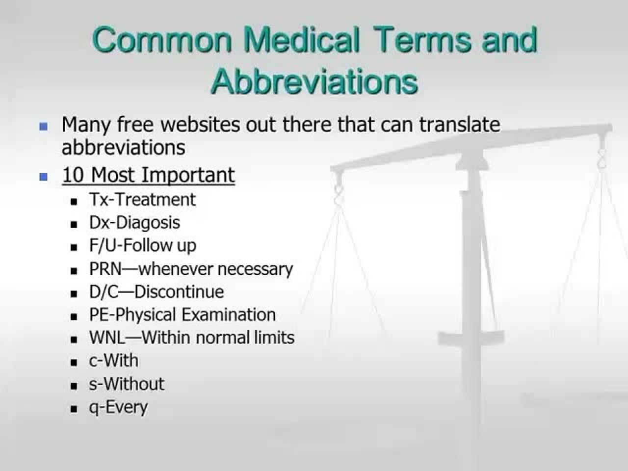 Common Medical Terms and Abbreviations — Video | Lorman