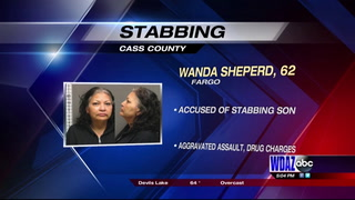 Fargo woman accused of stabbing son