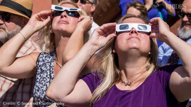 This Solar Eclipse Wedding Was Planned Down to the Minute