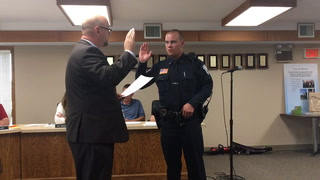 New Morris police officer John Ophoven