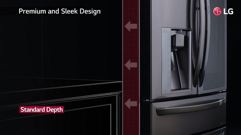LG 24CuFt Wi-Fi Enabled French Door Counter-Depth