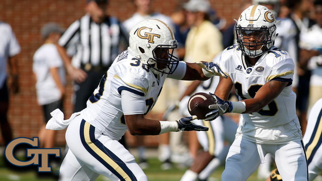 Georgia Tech RB KirVonte Benson Takes It 63 Yards To The House