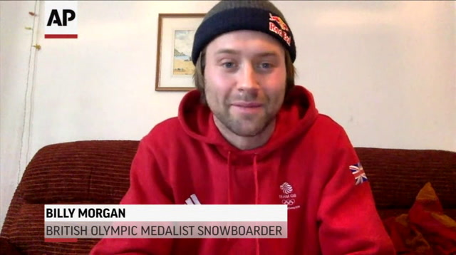 Olympic Snowboarder Hits Snowy Hills in Essex
