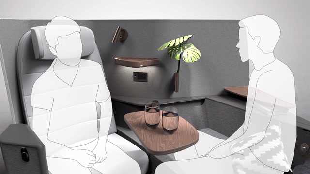 Here are three airplane seat designs that never became reality