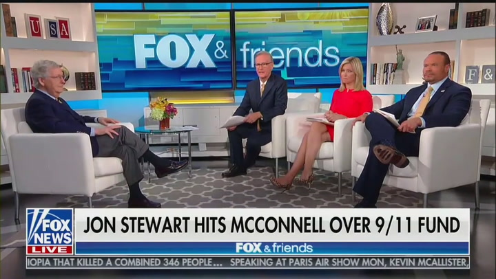 Mitch McConnell Wonders Why Jon Stewart Is 'All Bent Out of Shape' Over 9/11 Victim Compensation Fund