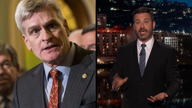Kimmel rips into Sen. Cassidy's health-care bill - twice
