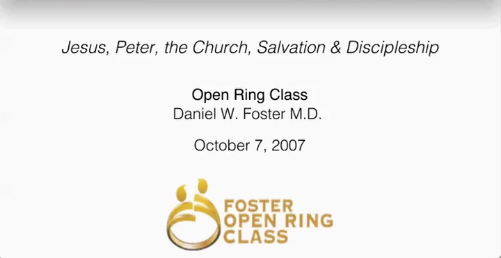 Jesus, Peter, the Church, Salvation & Discipleship