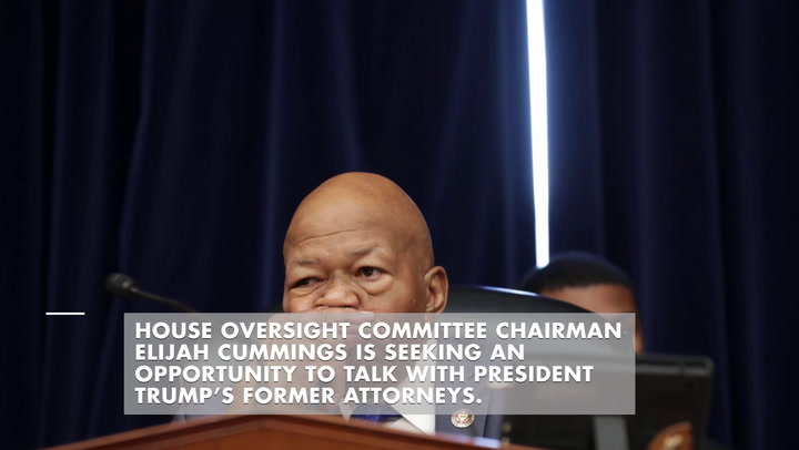 Elijah Cummings seeks testimony of two ex-Trump lawyers over alleged Cohen hush-money payments