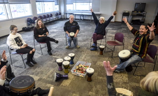 Drum circle at the Willmar Public Library
