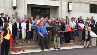 HHS Building ribbon cutting