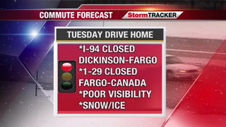 StormTRACKER Forecast: Many Roads Closed Due To Blizzard Conditions