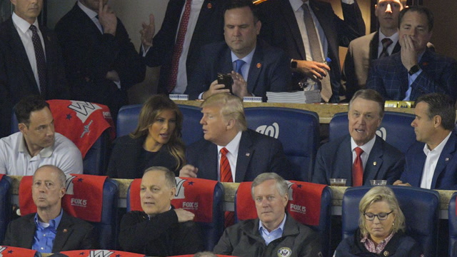 Trump is booed at Game 5 of the World Series