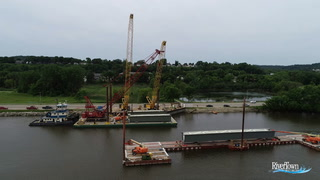 Final Tub Girder Installed On Red Wing Bridge