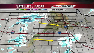 Snow showers possible tonight