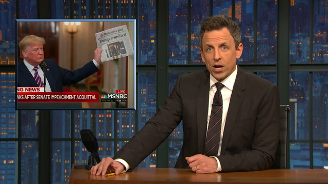 Late-night hosts take down Trump's impeachment acquittal remarks
