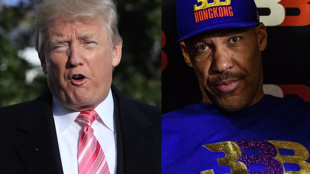 What's going on between President Trump and LaVar Ball?