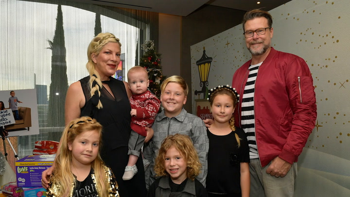 Tori Spelling Defends Kids' Pink Hair at Costume Party: 'Screw the Shamers'