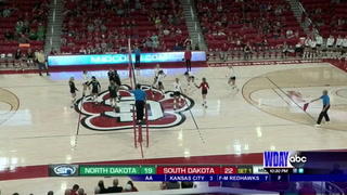 USD opens new arena with sweep of UND