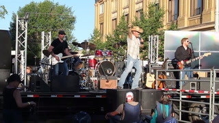 Bucky Covington performs in Dickinson