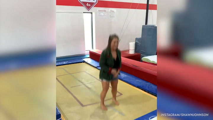 Olympic Gold Medalist Shawn Johnson Does First Pregnant Backflip: 'I Peed Myself a Little' — Watch!
