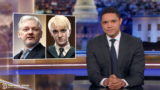 Late-night TV hosts react to Julian Assange's arrest