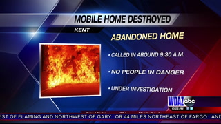 Mobile home destroyed after fire