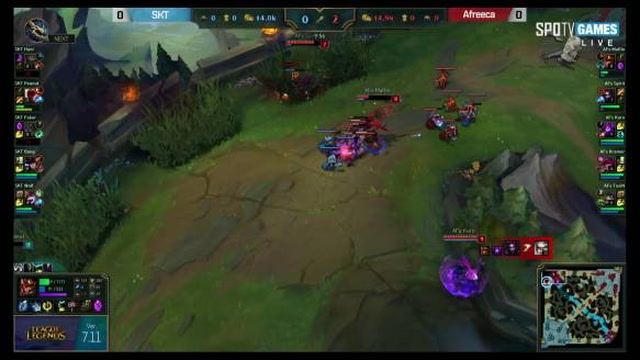 SKT vs. AFS Highlights Game 1 LCK SUMMER 2017 SK Telecom vs. Afreeca Freecs
