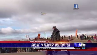 UPDATE: Authorities shoot drone, protesters build blockade