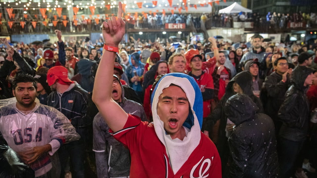 Nats fans erupt in celebration across D.C. after World Series win