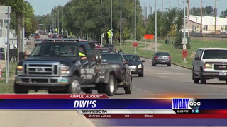 August has the highest number of DWI arrests