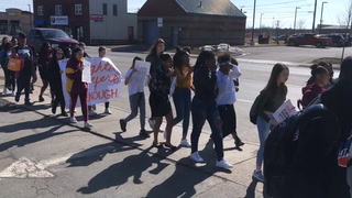 Denfeld students participate in National School Walkout Day