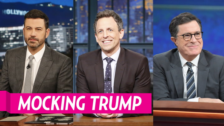 Seth Meyers, Stephen Colbert and More Late-Night Hosts Skewer Donald Trump's 'Bats–t Crazy' Press Conference: Watch