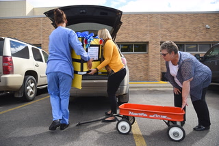 Rice Memorial Hospital Fall Basket donations