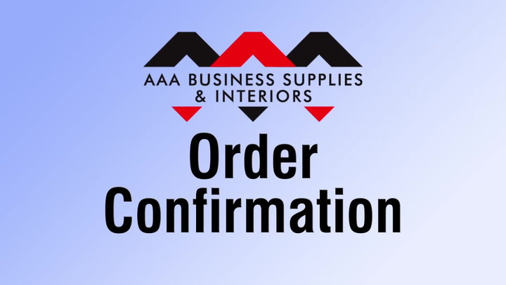 Order Confirmation at shop.AAAsolutions.com
