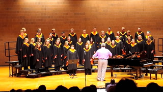"Morris Area's A Cappella choir performs ""Famine Song"""