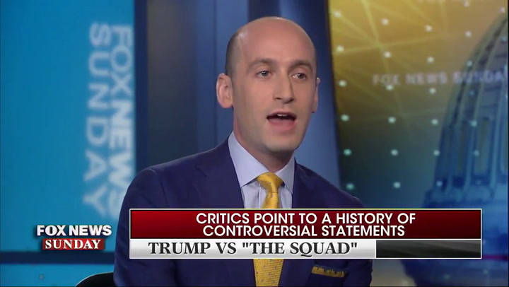 Stephen Miller says Trump's attacks on America are out of love for the country