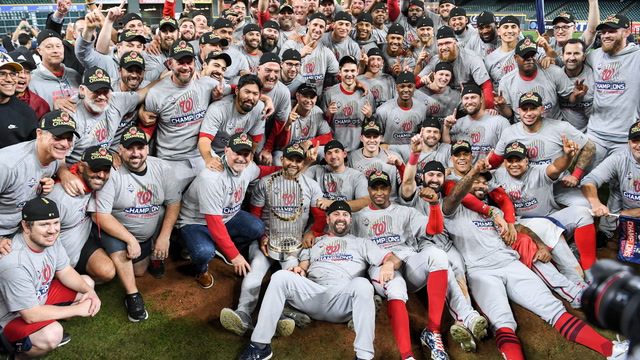 'Right now we're living the dream:' Behind the scenes in the Nationals locker room after their win