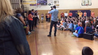 Middle School Tapes Principal To Wall To Celebrate