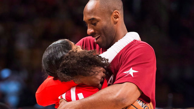 Gianna Bryant wanted to carry on her dad's basketball legacy. Kobe was all in.
