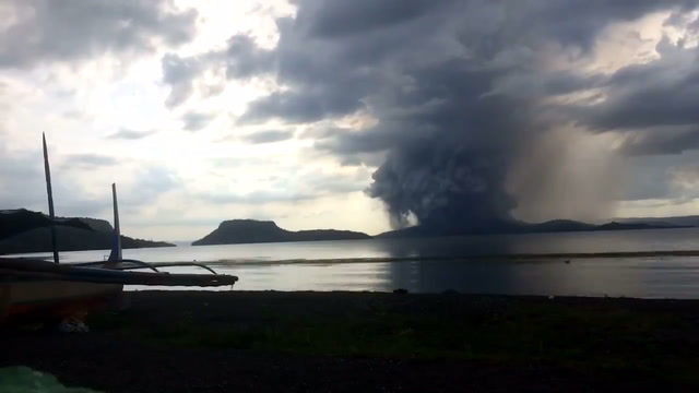 Giant clouds of ash and steam seen over Philippines after volcano erupts
