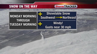 Tracking Snow & Wind for Monday
