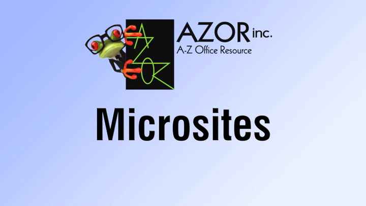 Microsites | Access from shop.AZORinc.com