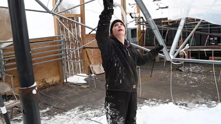 Greenhouse Roof Falls Under Weight of Heavy Snow