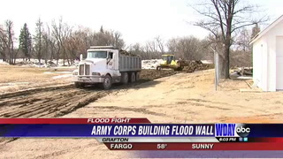 Army Corps Begin Construction On Flood Wall In Grafton
