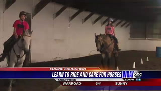 Local riding center teaches kids horse safety