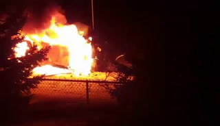 Gordon Matthew Babbs, 52, of North Oaks was killed in a car fire early Saturday in Cottage Grove. (Image from video by Sommer Robbins)