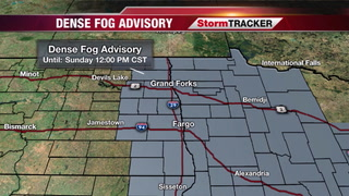 Dense fog through Sunday morning