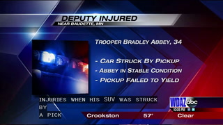 Sheriff's deputy injured near Baudette