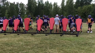 """Discipline is the name of the game for this year's Ellsworth Panthers football team. """"We definitely have to be a more disciplined football team this year if we want to get to the places we want to get to as a collective unit,"""" head coach Rob Heller said. Katie Davidson / RiverTown Multimedia"""