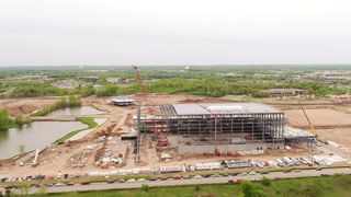 Drone footage of TCO Performance Center